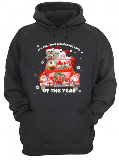 Shihtzu Wonderful Time Of The Year Christmas  Unisex Hoodie