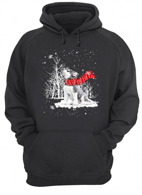 Siberian Husky Snow Crewneck  Unisex Hoodie