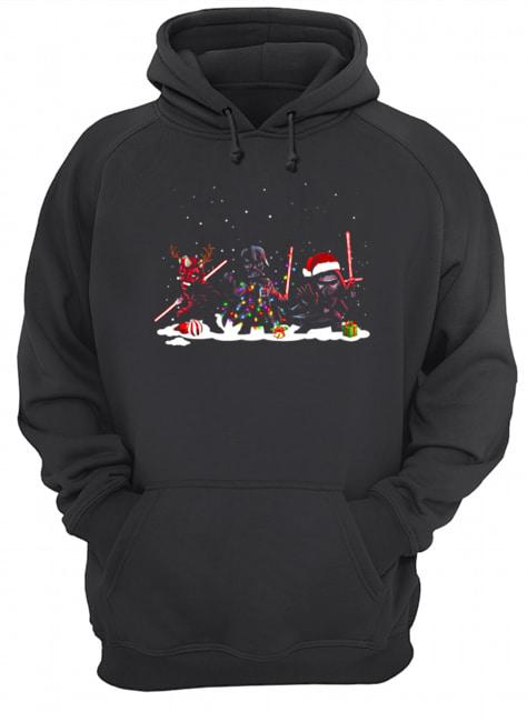 Star Wars Darth Maul Darth Vader Kylo Ren Christmas  Unisex Hoodie