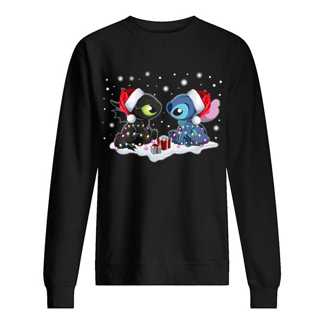 Stitch and Toothless Christmas  Unisex Sweatshirt