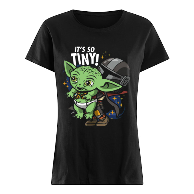 Stormtrooper and Baby Yoda It's So Tiny  Classic Women's T-shirt