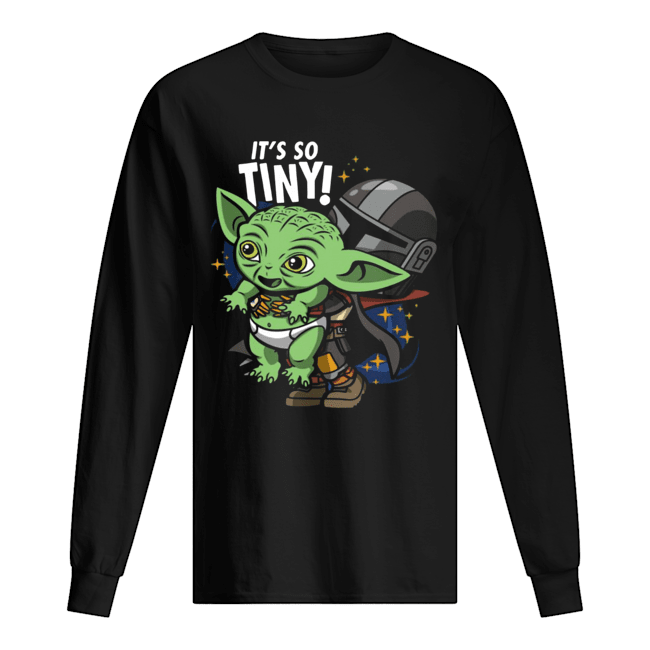 Stormtrooper and Baby Yoda It's So Tiny  Long Sleeved T-shirt