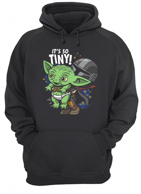 Stormtrooper and Baby Yoda It's So Tiny  Unisex Hoodie