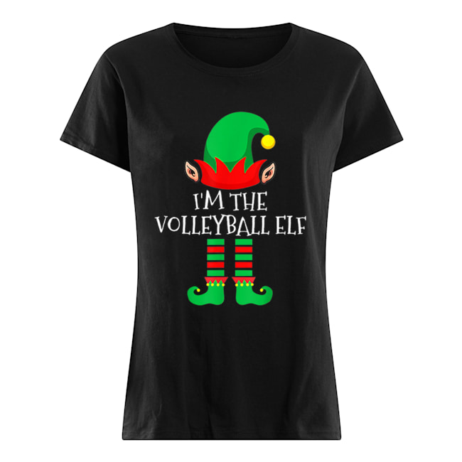The Volleyball Elf Family Matching Group Christmas  Classic Women's T-shirt