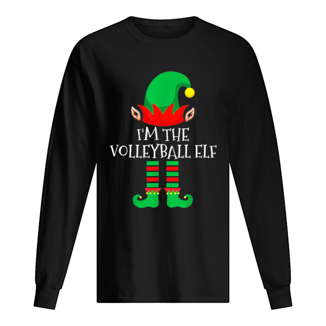 The Volleyball Elf Family Matching Group Christmas  Long Sleeved T-shirt