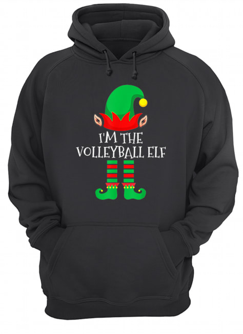 The Volleyball Elf Family Matching Group Christmas  Unisex Hoodie