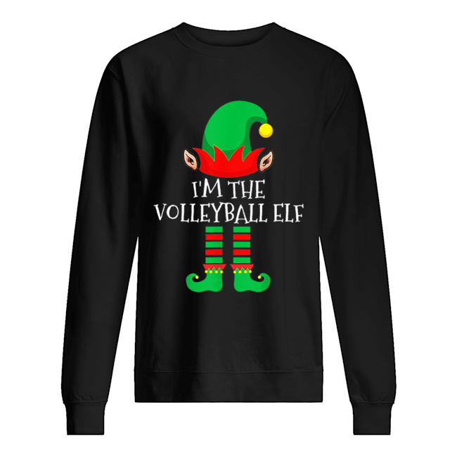 The Volleyball Elf Family Matching Group Christmas  Unisex Sweatshirt