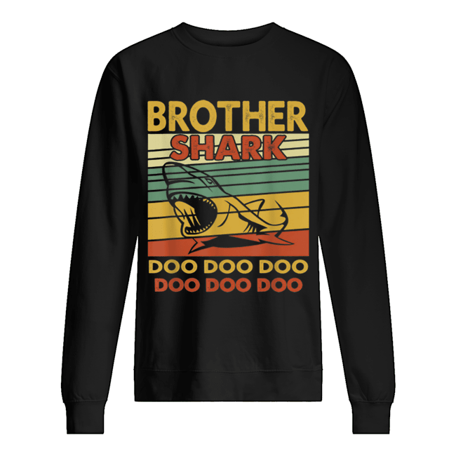 Vintage Brother Shark Doo Doo Santa Christmas Matching Gift  Unisex Sweatshirt