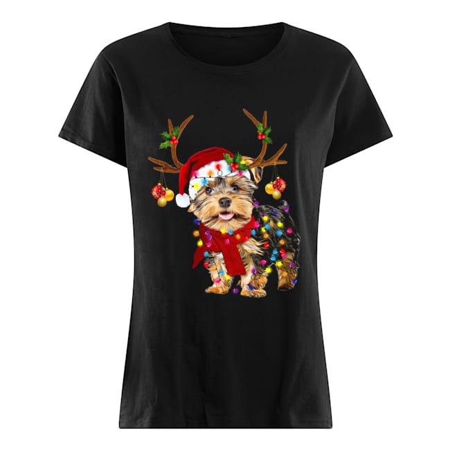 Yorkshire Terrier Gorgeous Reindeer Christmas  Classic Women's T-shirt