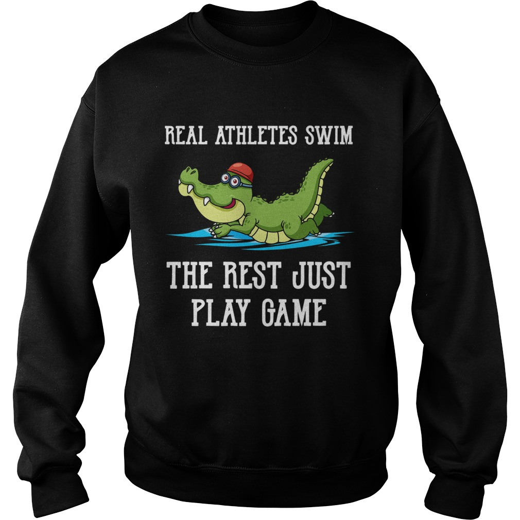 Baby crocodile Real Athletes Swim The First Just Play Game  Sweatshirt