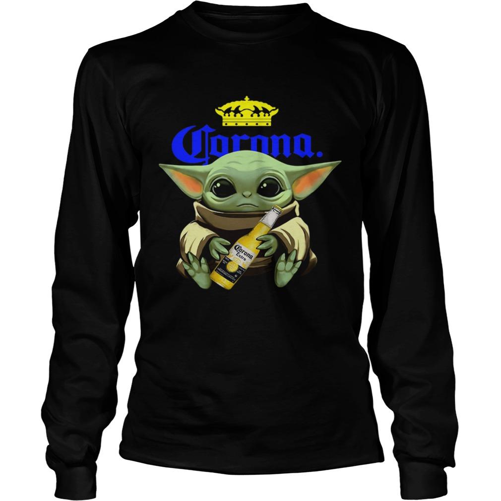Baby Yoda Hug Corona  LongSleeve