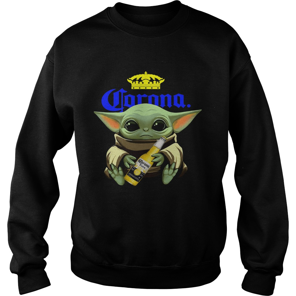 Baby Yoda Hug Corona  Sweatshirt
