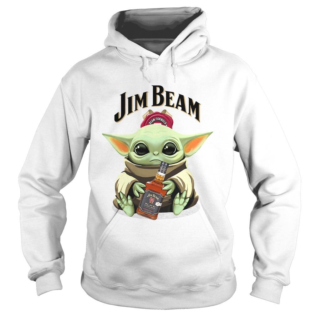 Baby Yoda Hug Jim Beam  Hoodie