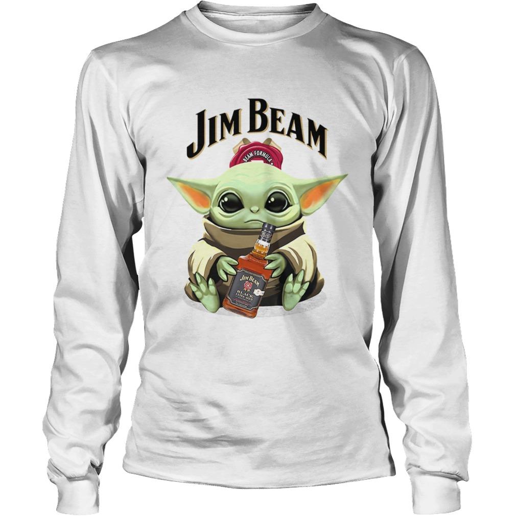 Baby Yoda Hug Jim Beam  LongSleeve