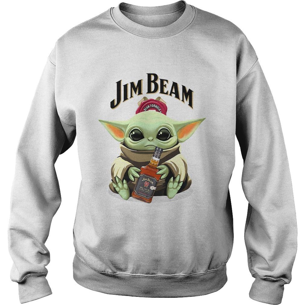 Baby Yoda Hug Jim Beam  Sweatshirt