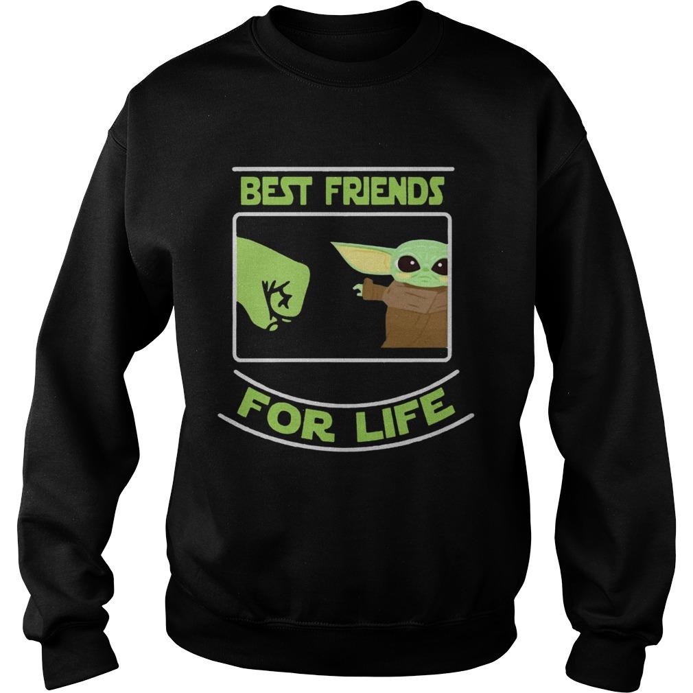 Best Friends For Life Baby Yoda  Sweatshirt