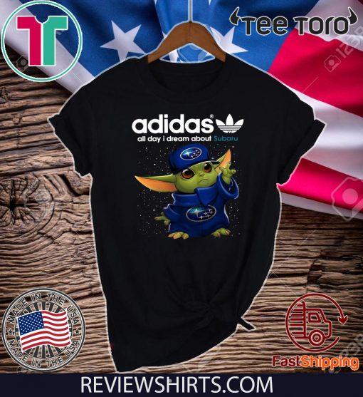 Adidas All Day I Dream About Subaru Baby Yoda 2020 T-Shirt