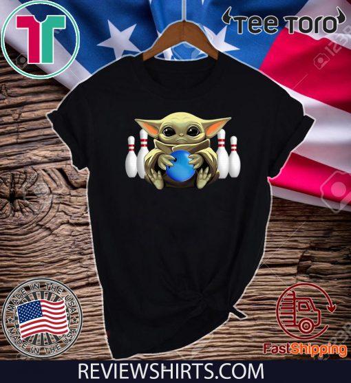 Baby Yoda Hug Bowling Classic T-Shirt