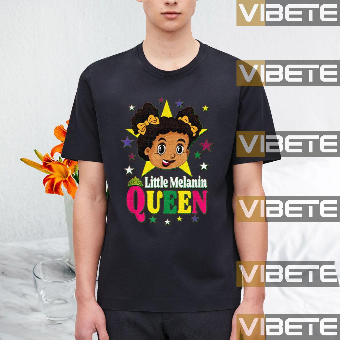 Black History Month African American Little Melanin Queen T-Shirt