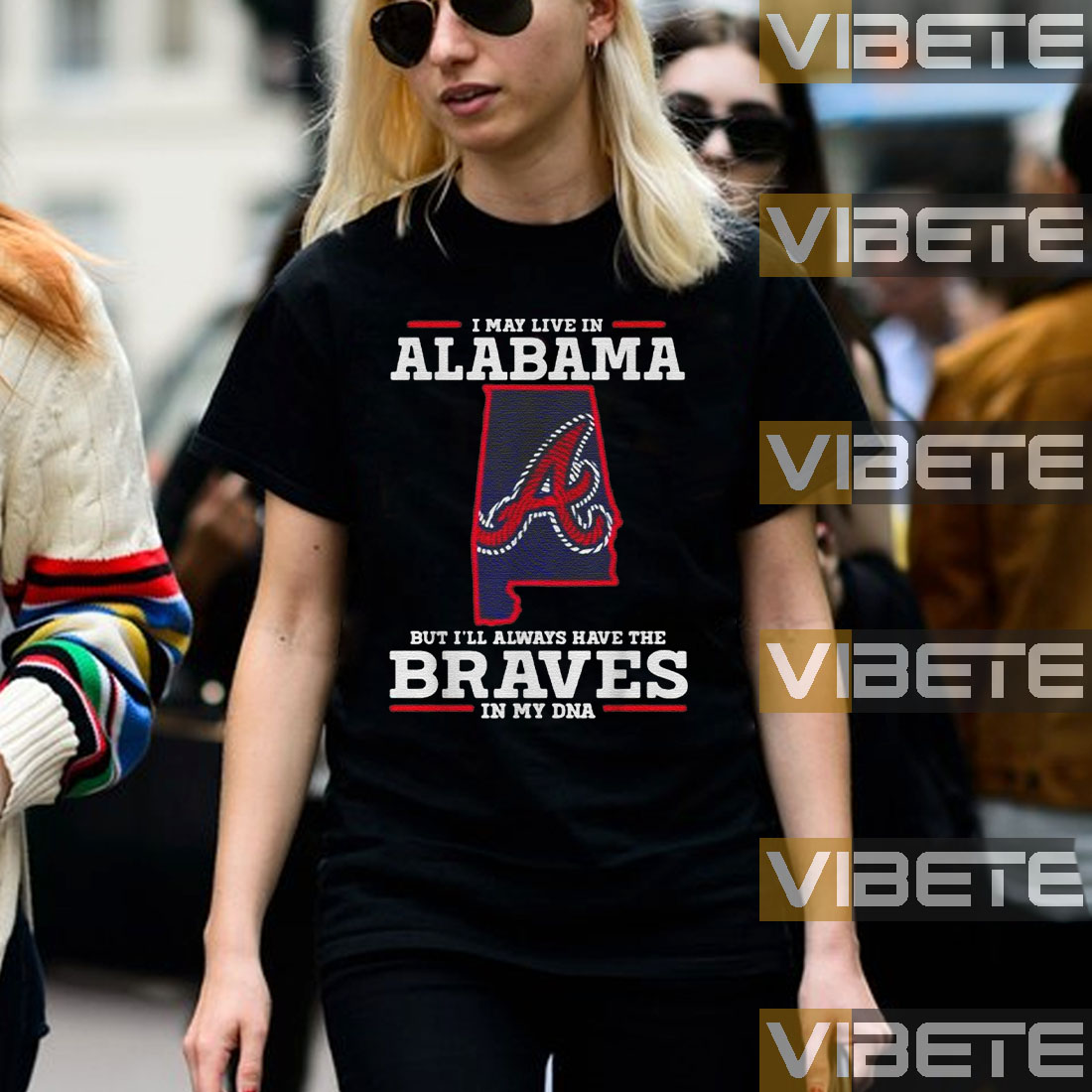 I may live in Alabama but I'll always have the Braves in my DNA shirt