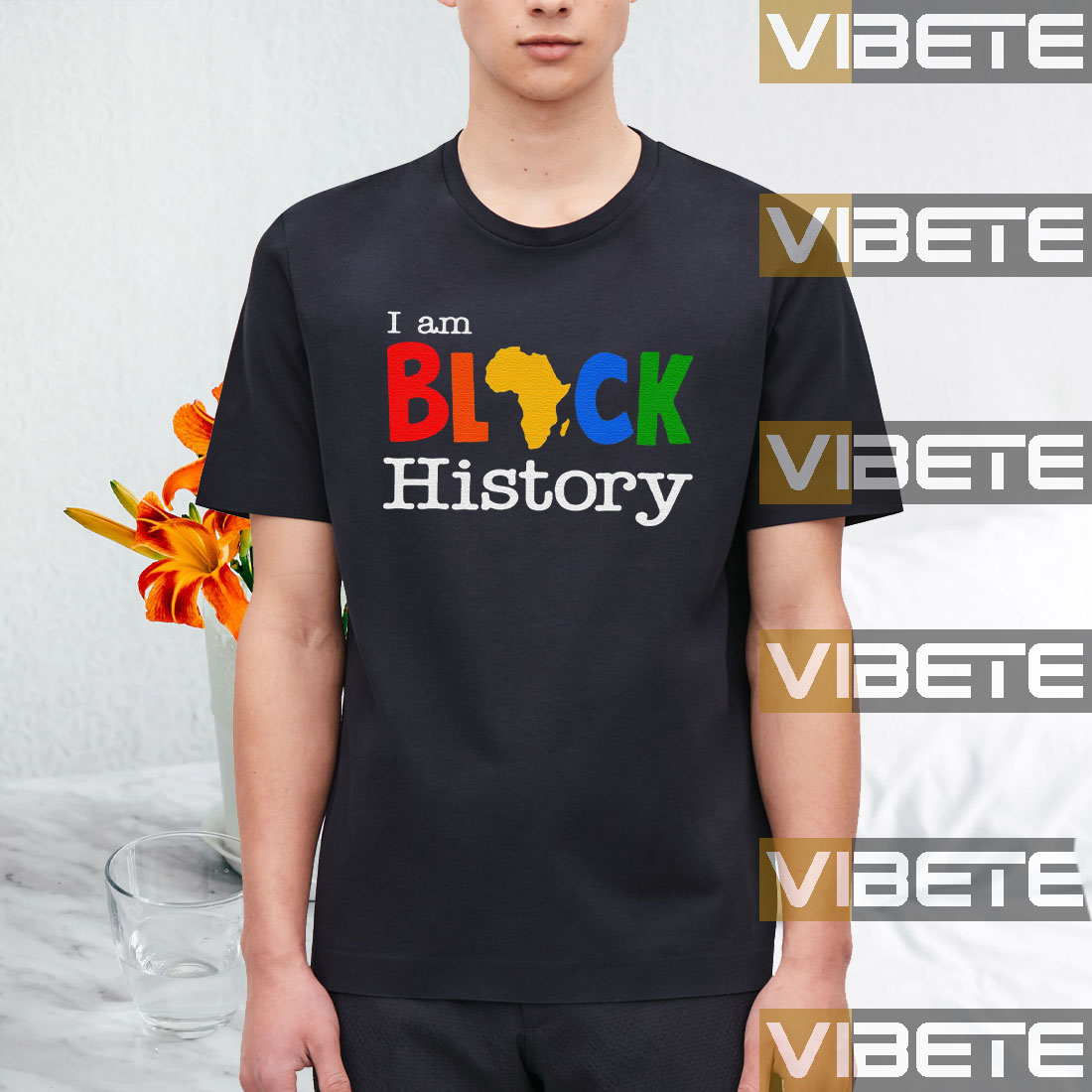 Official American African Pride Costumes I Am Black History T-Shirt