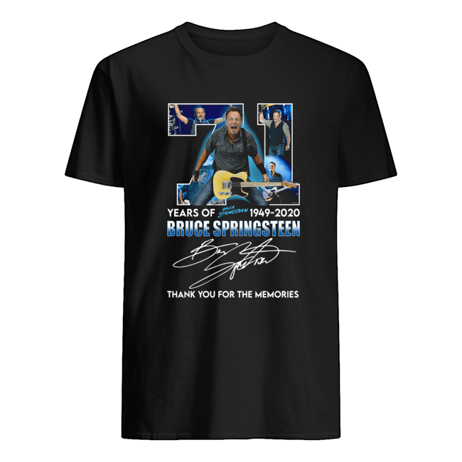 71 Years Of Bruce Springsteen 1949 2020 Signature Thank You For The Memories Classic Men's T-shirt