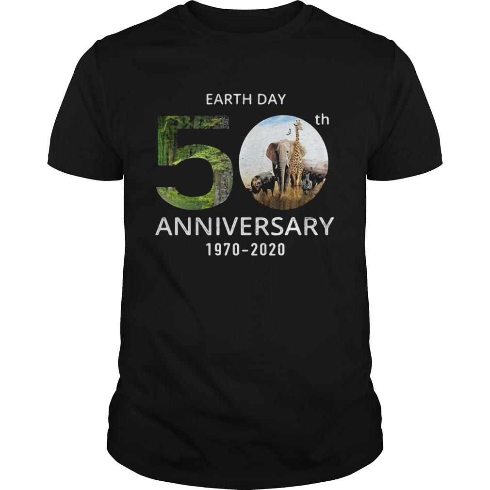 Animals Earth Day 50th Anniversary 1970 2020 Unisex