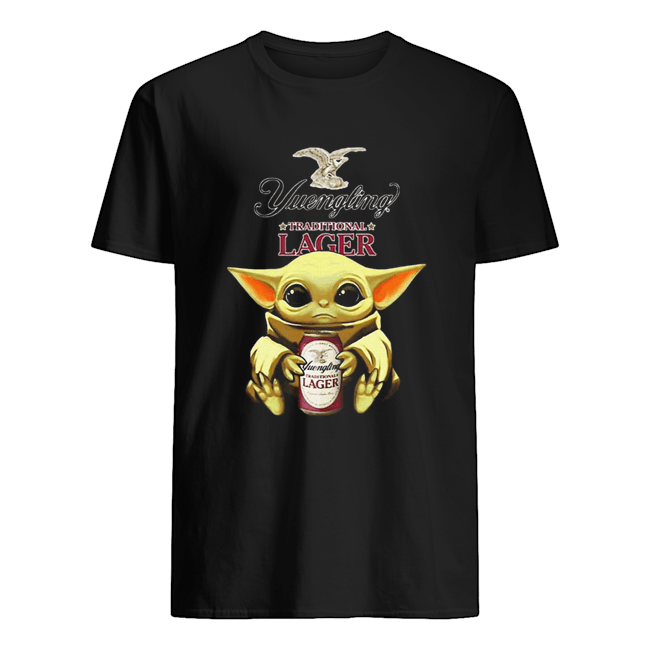 Baby Yoda Hug Yuengling Lager Beer Star Wars Classic Men's T-shirt