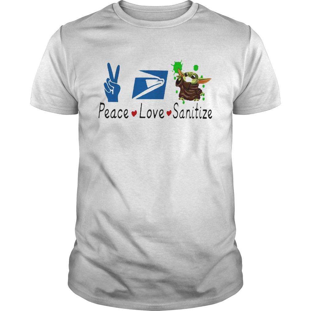 Baby Yoda Peace Love Sanitize United States Postal Service Unisex