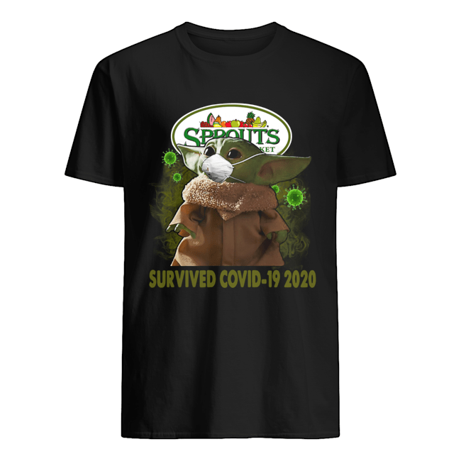 Baby Yoda Sprouts Farmers Market Survived Covid 19 2020 Classic Men's T-shirt
