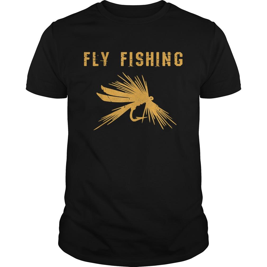 Fliegenfischen Geschenk Angler Fly Fishing mit Fliege Herren Unisex