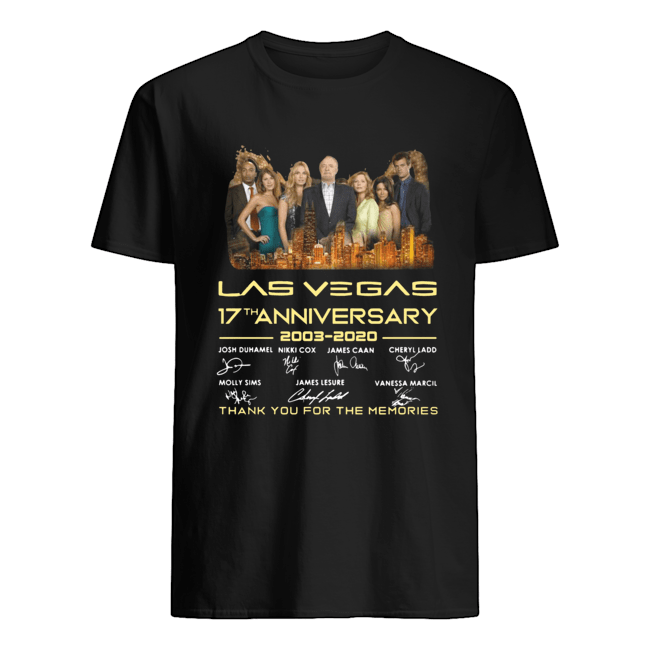 Las vegas 17th anniversary 2003-2020 signatures thank you for the memories Classic Men's T-shirt