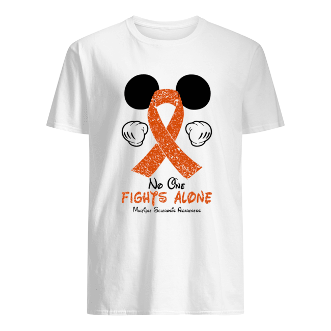 Mickey Mouse No One Fights Alone Multiple Sclerosis Awareness Classic Men's T-shirt