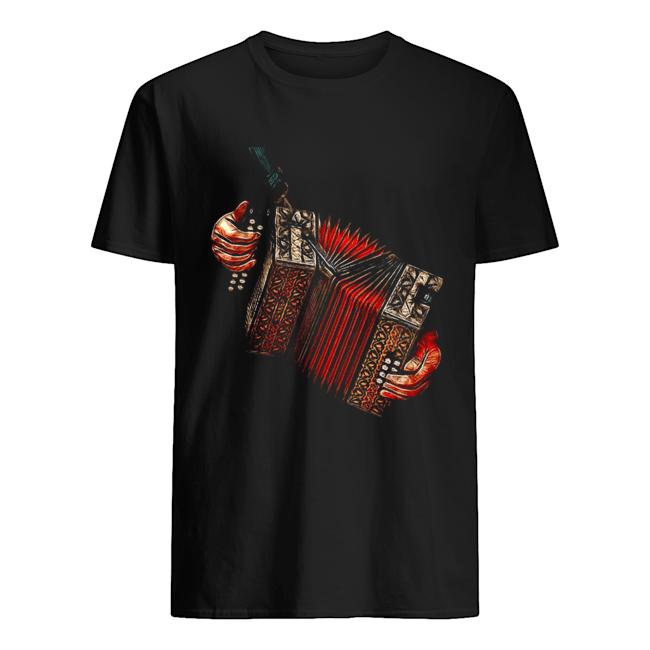 Musical Accordionist Squeezebox Classic Men's T-shirt