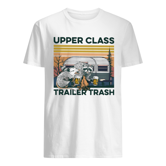 Raccoon And Possum Upper Class Trailer Trash Vintage Classic Men's T-shirt