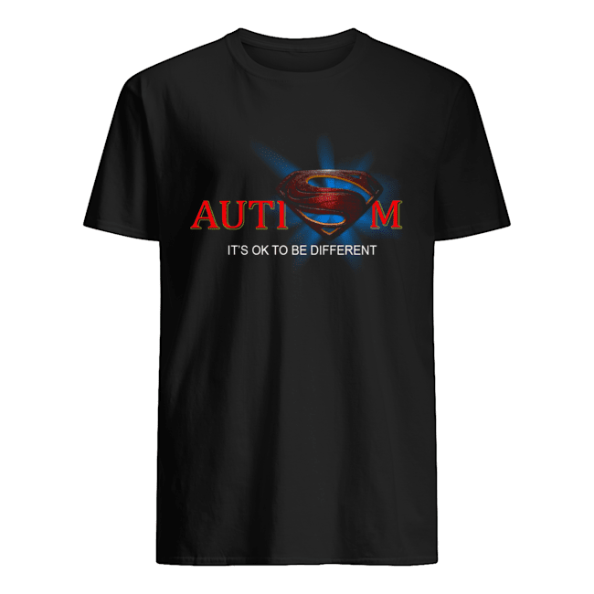 Superman Logo Autism It's Ok To Be Different Classic Men's T-shirt