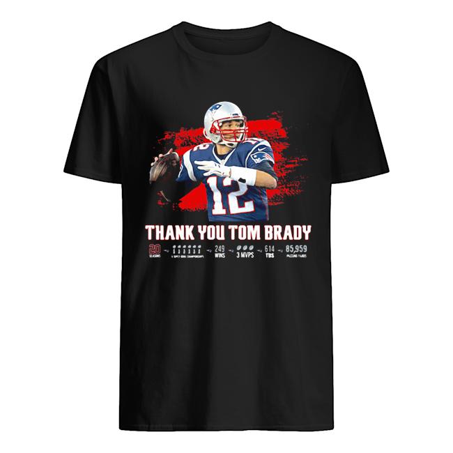 Thank You Tom Brady Patriots Football 2020 Classic Men's T-shirt
