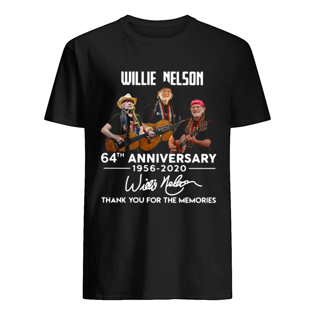 Willie Nelson 64th Anniversary 1956 2020 Thank You For The Memories Signatures Classic Men's T-shirt