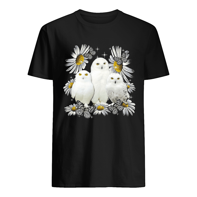Owls And Flower  Classic Men's T-shirt