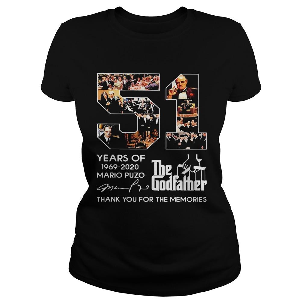 51 Years Of The Godfather 19692020 Mario Puzo Signature  Classic Ladies