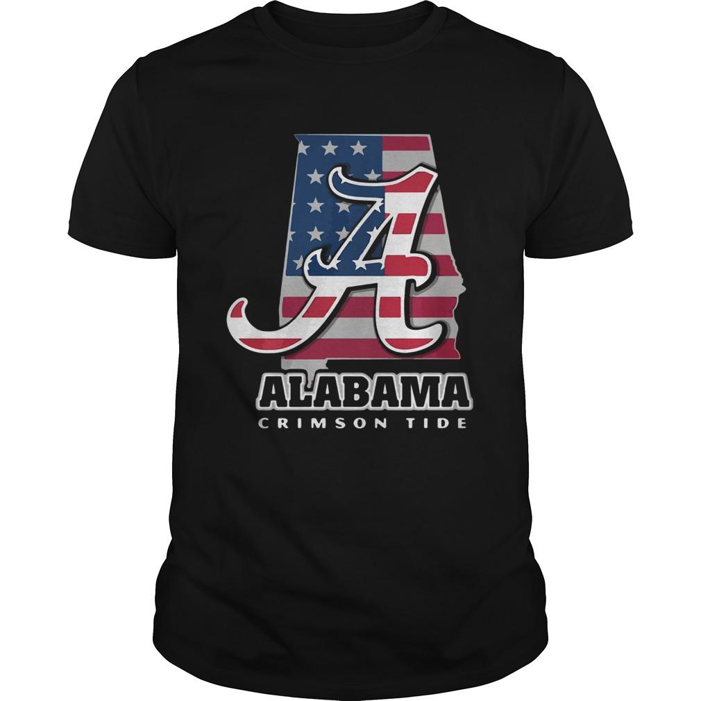Alabama Crimson Tide American Flag  Unisex