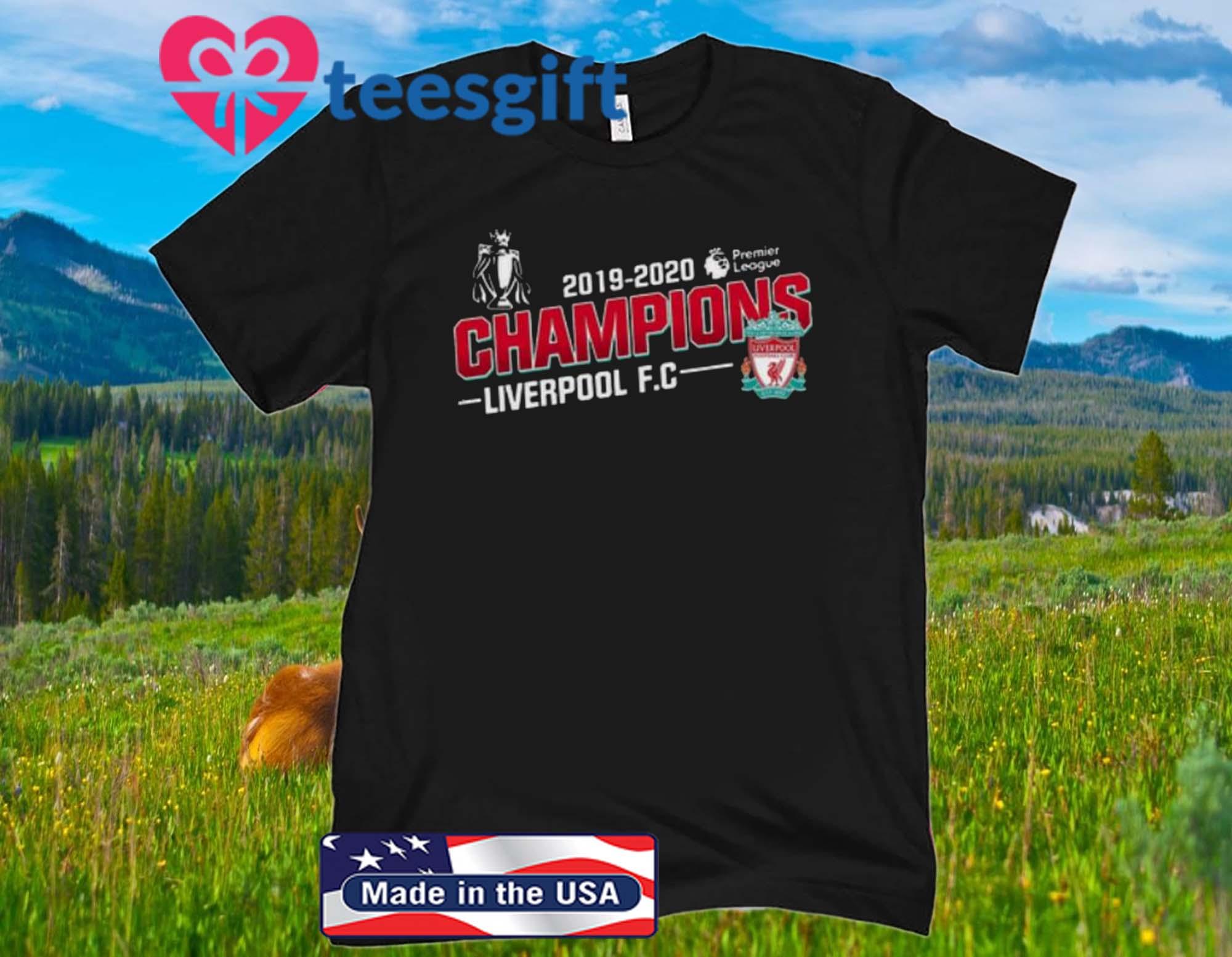Champions Liverpool FC 2019-2020 Premier League Tshirt