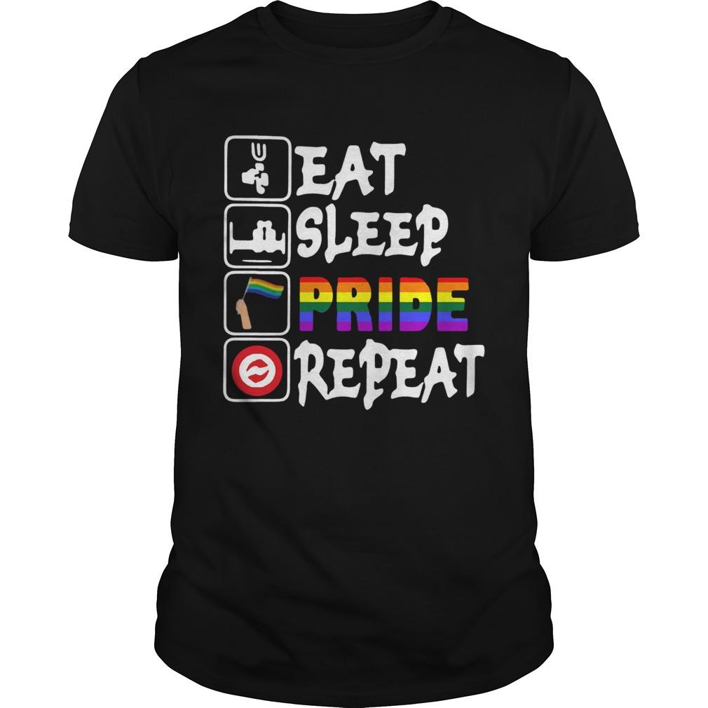 LGBT Eat Sleep Pride Repeat Unisex