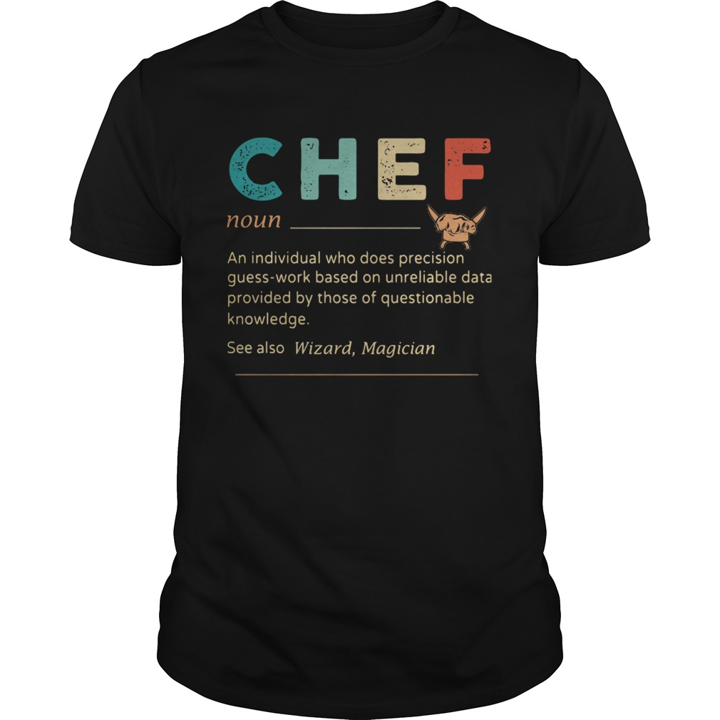 Chef An Individual Who Does Precisicon Guss Work Besed On Unreliable Data Provided By Those Of Ques Unisex