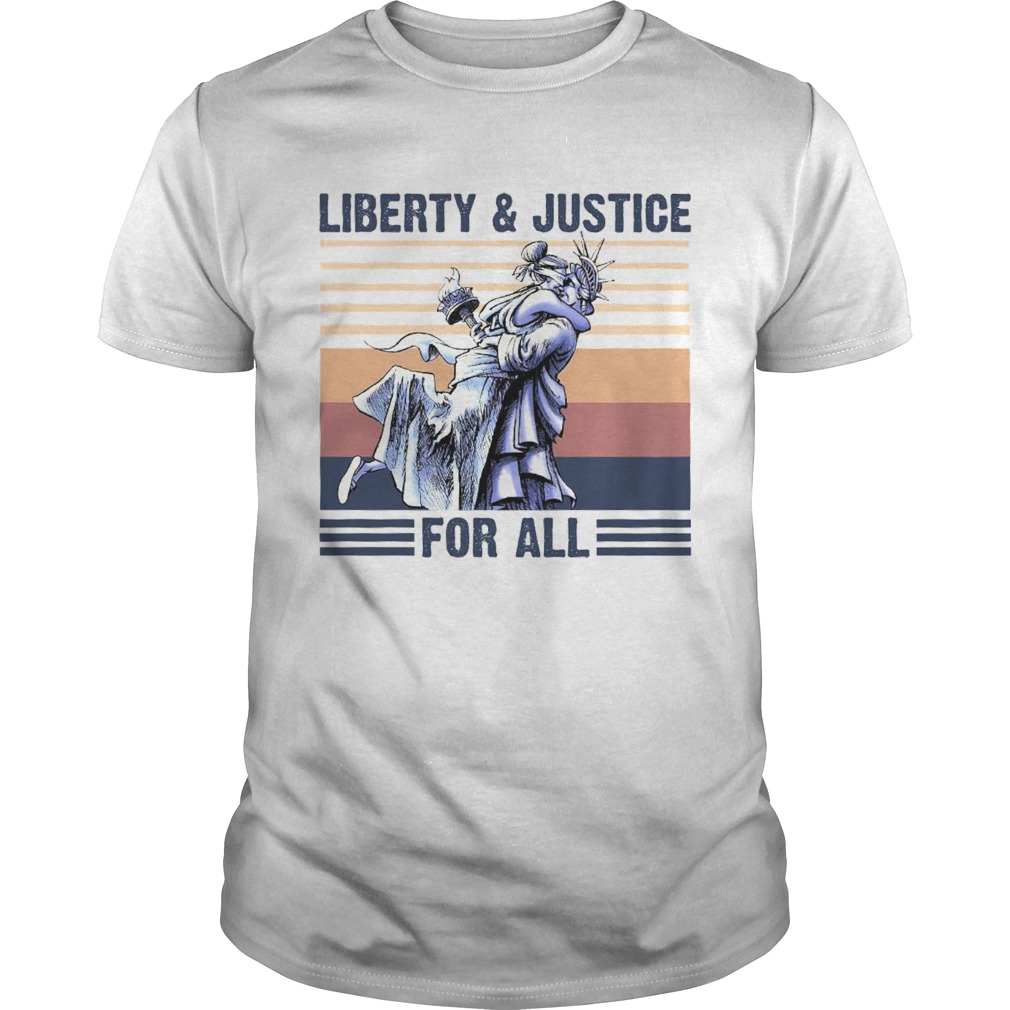 Liberty And Justice For All Vintage Retro Unisex