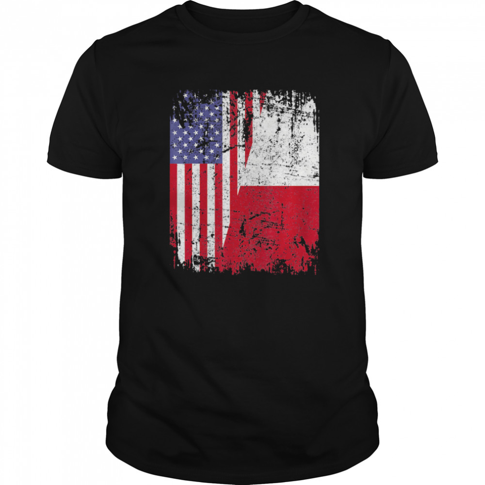 American And Poland Flag Classic Men's T-shirt