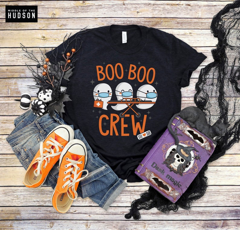Boo Boo Crew Tshirts, nurse, doctor, paramedic, emt, halloween shirt, trick or treat, happy halloween