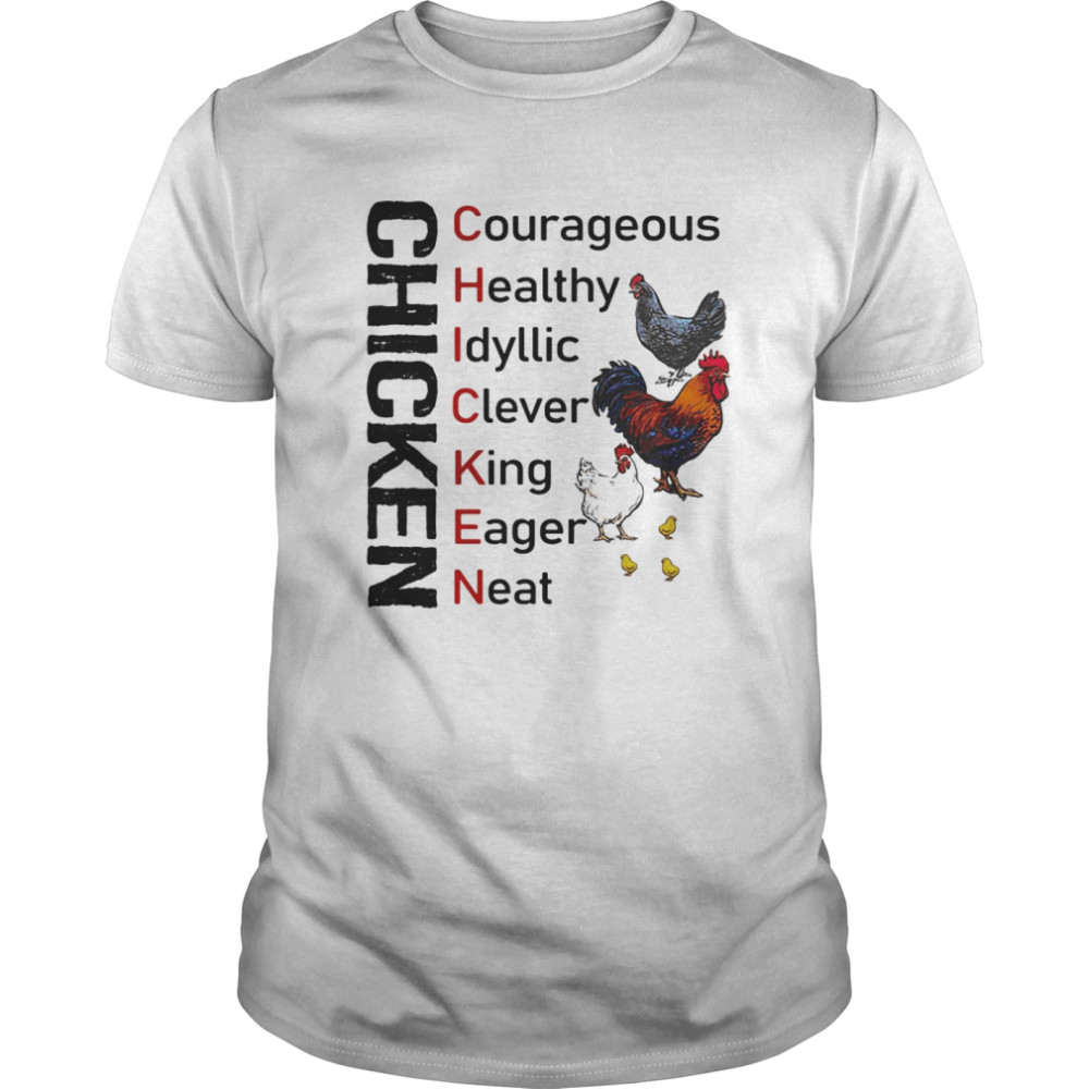 Chicken courageous healthy idyllic clever king eager neat Classic Men's T-shirt