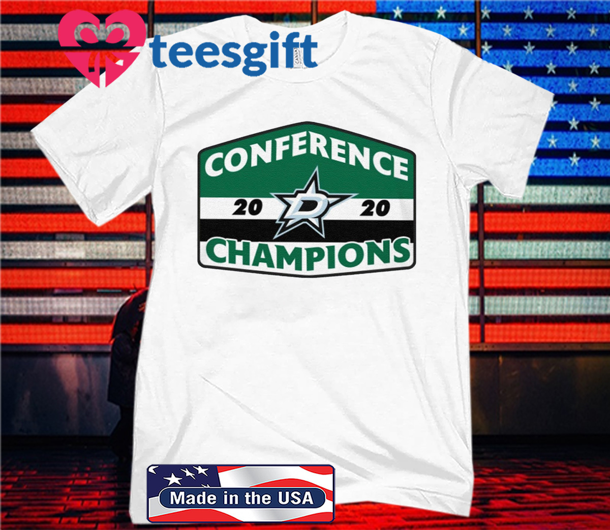 Dallas Stars 2020 Western Conference Champions Tee Shirt