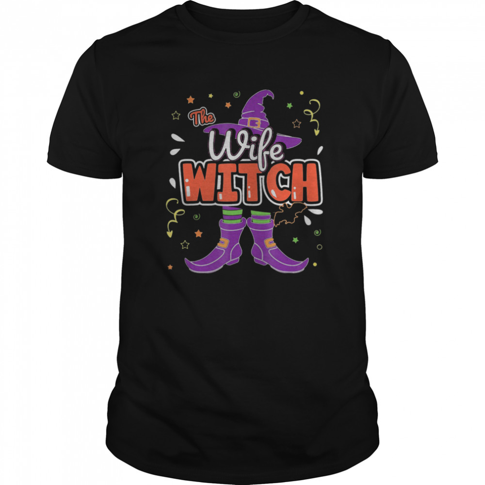 Halloween The Wife Witch Family Matching Funny Group Women Classic Men's T-shirt
